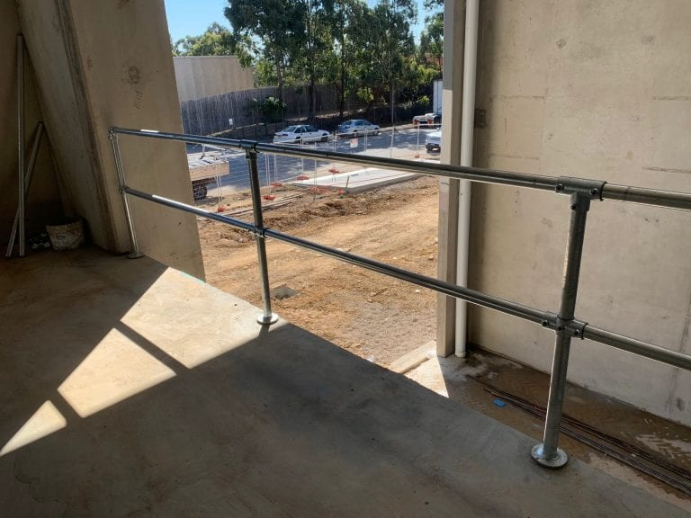 Permanent Handrail on Mezzanine slab