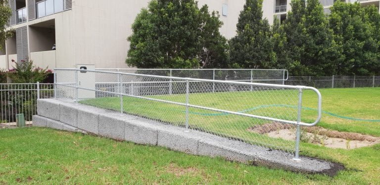Permanent Handrail on No-Fines Blocks