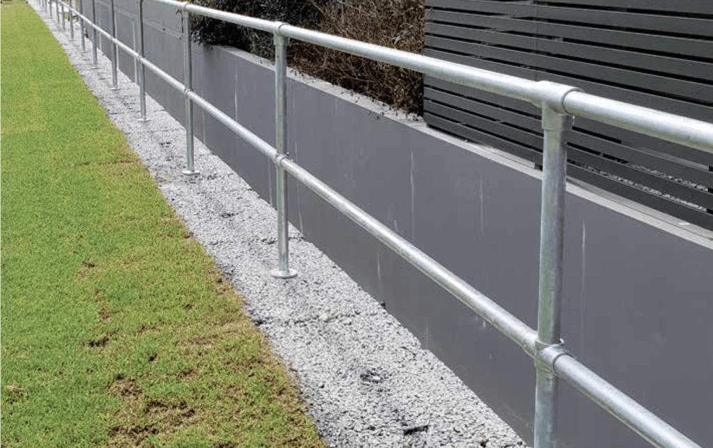 NON-DRILL Handrail, garden edge
